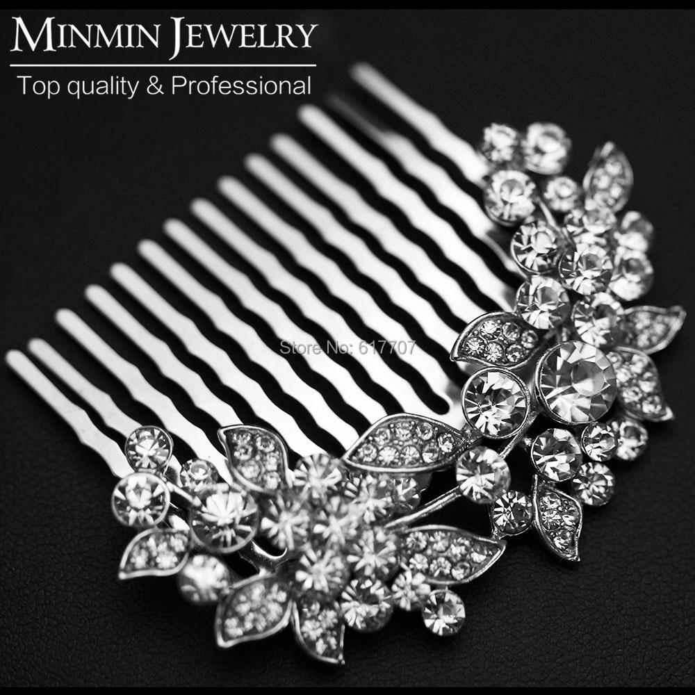 Original Design Leaf Crystal Bridal Hair Combs Hairpin Wedding Hair Accessories Hair Jewelry Imitation Gemstone Jewelry FS005(China (Mainland))