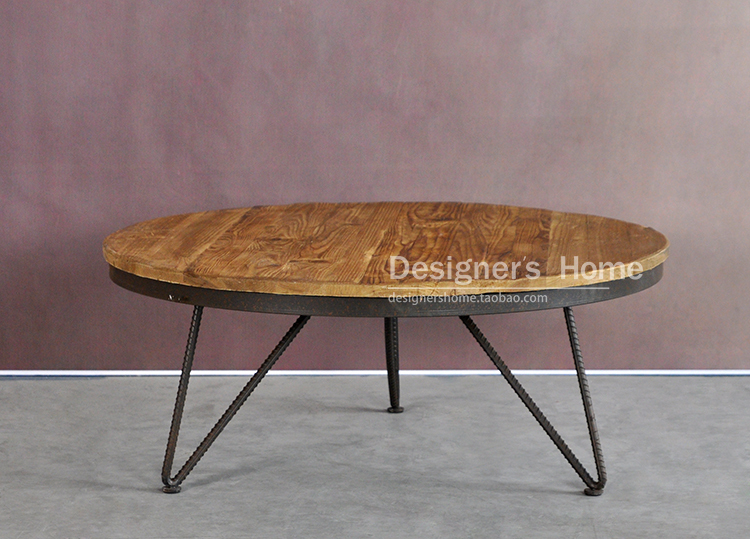 Nordic American Village French Rustic Retro Furniture Aidi Wei Iron Coffee Table Coffee Table