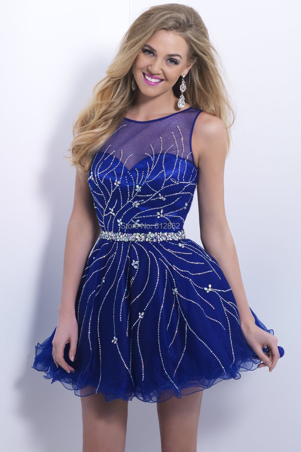Royal Blue Short Prom Dresses Cocktail Dresses 2016