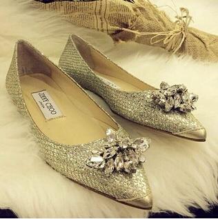 Hot sales 2015 new brand women flat shoes,fashion diamond women's wedding shoes Free shipping size 35-42 original box(China (Mainland))