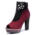 Shoes Woman MOOLECOLE 2016 Fashion Women Pumps Peep Toe Platform Genuine Leather High Heels Women Shoes