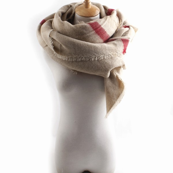2015 Top Fashion Long Oversized Imitate Cashmere Scarf Thicken Warm Winter Striped Scarves Shawl - Shenzhen Sundah Tech Co., Ltd.(Craft & Gift Dept. store)