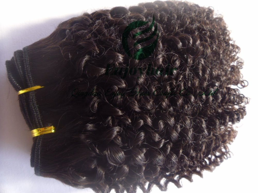 Queen Hair products curly brazilian Extensions,natural color hair weft extensions - Qingdao Enjoy Crafts Co., Ltd store