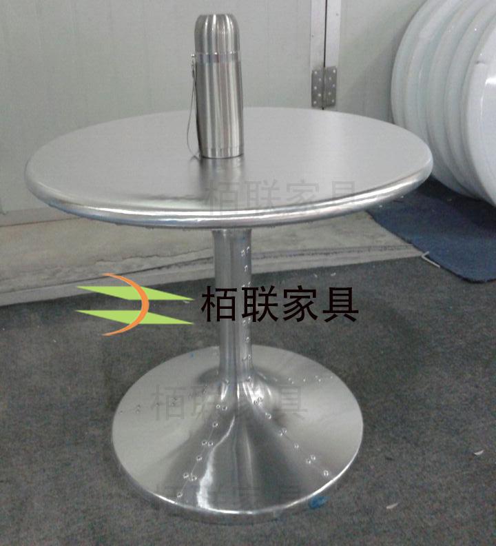 Modern minimalist fashion designer aluminum skin small coffee table desk negotiation table circular parlor sofa side a few coffe(China (Mainland))