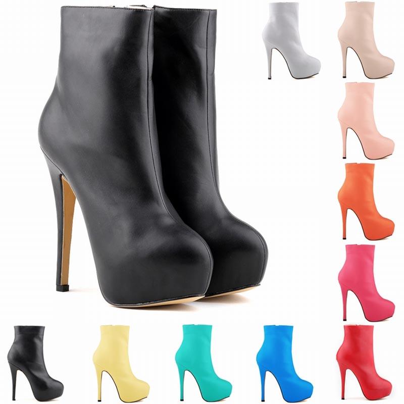 New 2014 ankle boots heels platform fashion matt unique shoes women boots bottes femmes chaussure femme botas mujer<br><br>Aliexpress