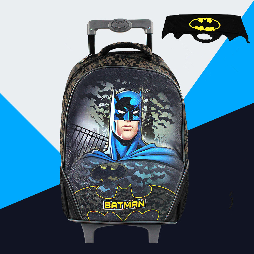 Batman children school bags backpack child mochila infantil kid bag bolsas 16 inch trolley bag backpacks gift Cloak &88139