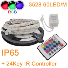 Buy 5M 10M 300LEDs 60LED/M IP65 Waterproof 3528 2835 SMD RGB Fleixble LED Strip Kit+24Key IR Remote Controller Set Decoration for $8.08 in AliExpress store