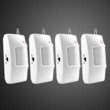4pcs/lot 315/433Mhz Wireless PIR Sensor Motion Detector For Wireless GSM/PSTN Auto Dial Home Security Alarm System no battery