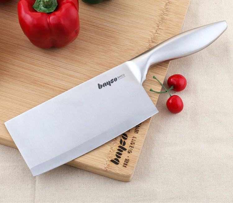 Buy Hot sale kitchen knife 7 inch chef knife made of 7CR17 stainless steel and color wood handle multipurpose high-end cooking tools cheap