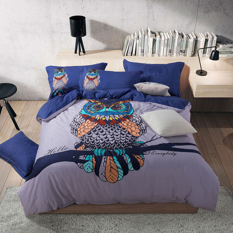online get cheap owl comforter queen organic king bedding set