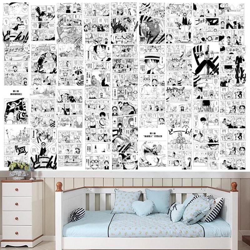 Online get cheap japanese wallpaper alibaba group - Papier peint bande dessinee noir blanc ...