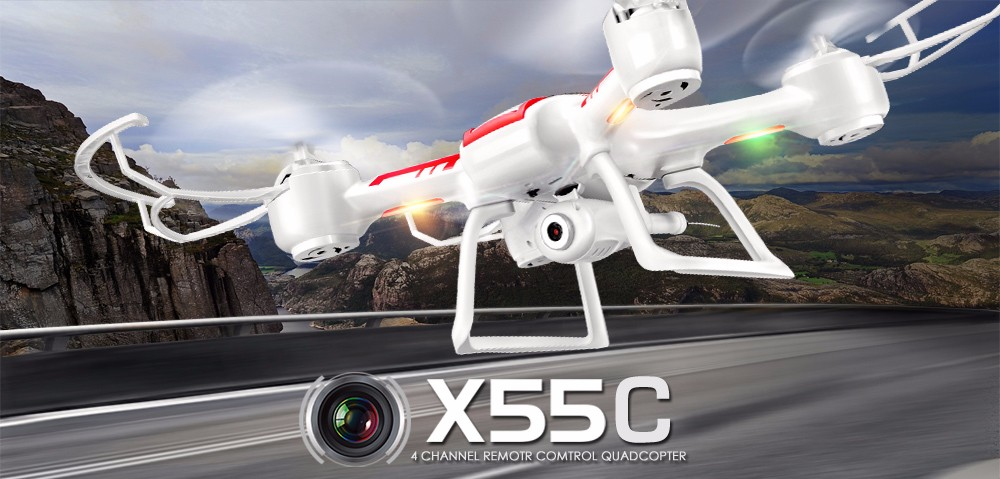 Original Syma X55 X55C X55G 2.4G 4CH 6 Axis Remote Control Quadcopter Drone with HD Camera 360 Degree Flip Stunts RC UAV