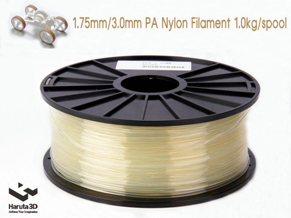 3D printer filament PA Nylon Transparent Color 1 75mm 3 0mm 1kg 2 2lbs Consumable for