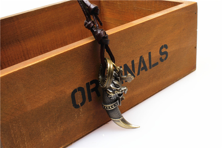 Long Teen Wolf Tooth Necklace Vintage Pendant Necklaces 2015