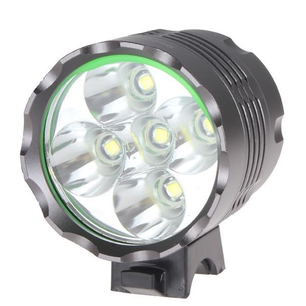 1set 5 CREE LED XML XM-L T6 LED 7000Lm Bicycle Light HeadLight Headlamp 8.4V 6400mAh +Charger(China (Mainland))