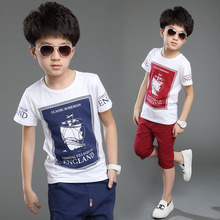 2016 New Hot Sale Summer Kids Boys T Shirt Shorts Set Children Short Sleeve Shirt Boys Clothing Set Kids Boy Sport Suit Outfit(China (Mainland))