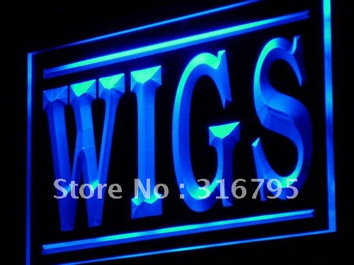 j074-b Wigs Shop Display Adv LED Light Sign(China (Mainland))