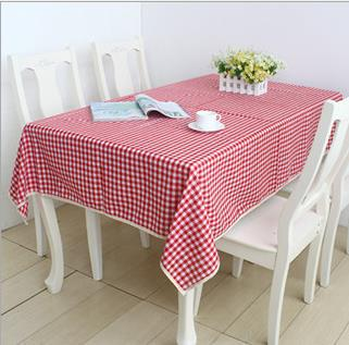 Free shipping.Cotton and linen tablecloth; Red and white grid cloth ;Lace table cloth.Fashion/high quality/a variety of sizes(China (Mainland))