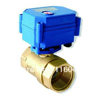 Huis gebruik elektrische klep dc/ac24v messing 1 ''3 draden of normaal gesloten draden voor ventilatorconvectoren verwarming waterzuivering(China (Mainland))