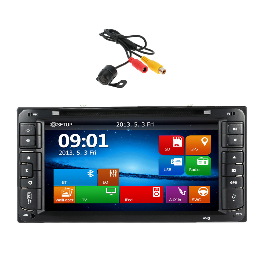HD 6.95 Inch Car DVD Player In Dash 2 Din Car PC Stereo GPS Navigation+Bluetooth+Radio for Toyota Universal(China (Mainland))
