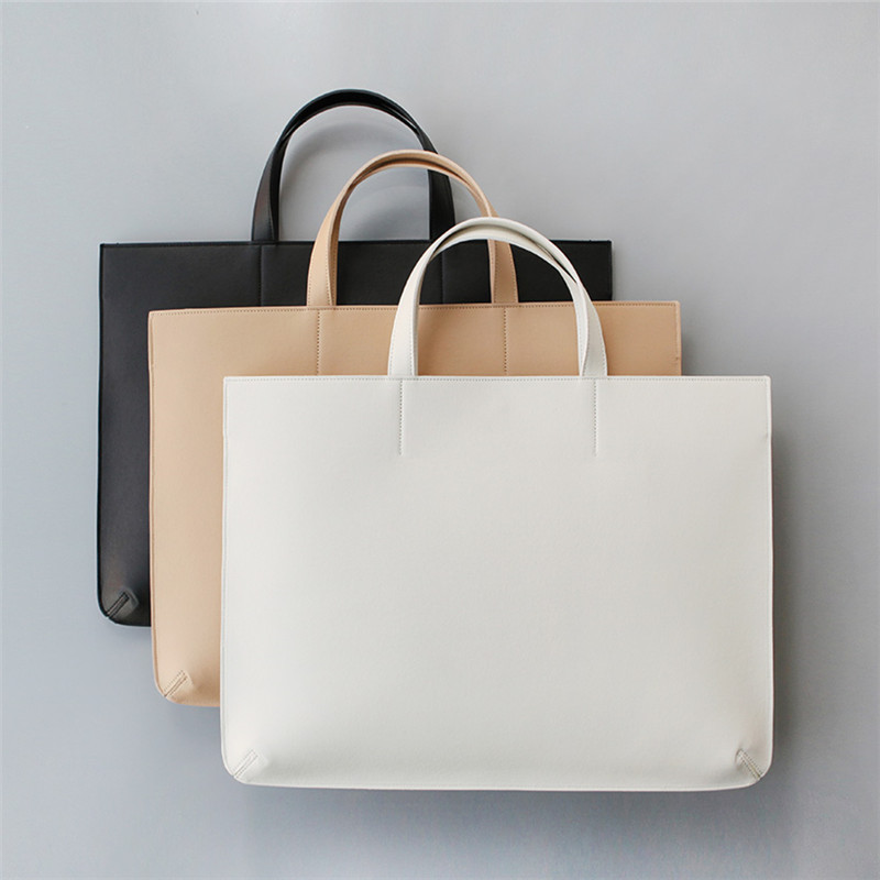 3 Color available simple Leather women and man handbag business Briefcase Laptop meaasger Bag Purse luxury Fashion famous HB0006(China (Mainland))