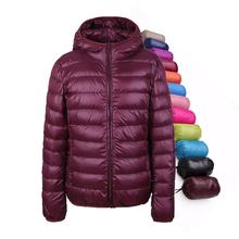 2016 зима женщины куртка 90% белая утка вниз, ultra light утка вниз пальто тонкий женщин для девочки верхней одежды снег парка куртка(China (Mainland))