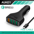 AUKEY QC3 0 4 Ports Car Charger Adapter Quick Charger Car Charger for HTC One M9