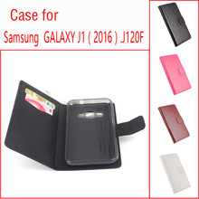 Buy High Luxury Leather Flip Stand Case Cover Samsung Galaxy J1 2016 J120 J120F J1, 6 SM-J120F / DS 4.5 Card Holder for $4.25 in AliExpress store