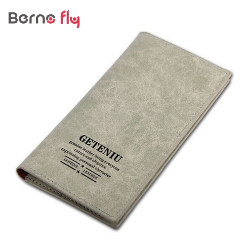 2016 New Three Layer Folded Genuine PU Leather Long Wallets Unisex Oxhide Card Coin Purse Men Women Waterproof Cowhide Wallet(China (Mainland))