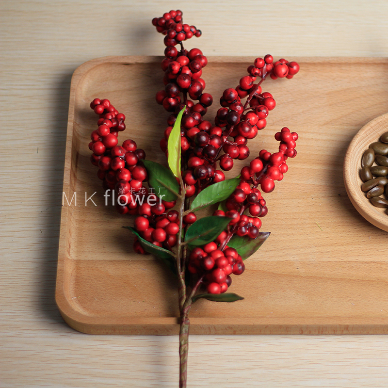 2pcs quality decorative flowers artificial blueberries for Artificial cranberries decoration