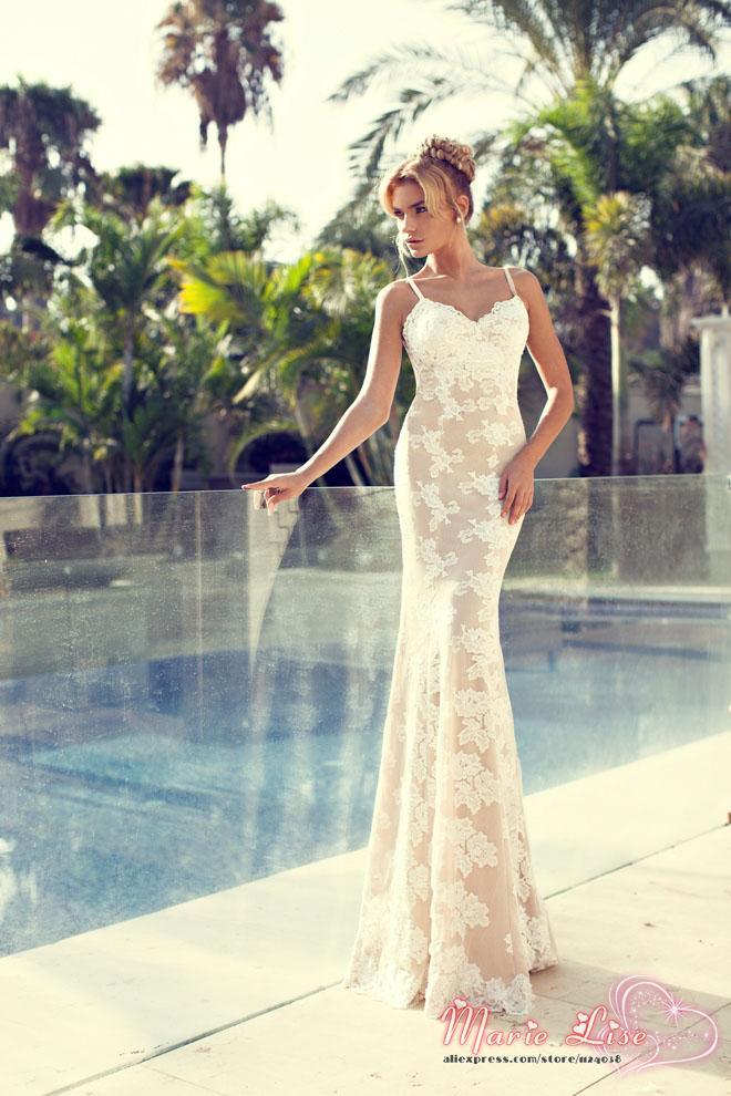 2014 new fashion marie lise vintage wedding dress lace for Lace old fashioned wedding dresses