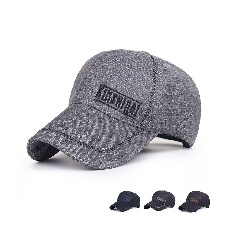 The new spring and summer men's outdoor fishing hat baseball cap sports cap sun visor elderly(China (Mainland))