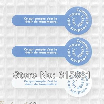 Seal Label Sticker Set Packaging Party Gift Wrap Diary Deco Wedding Card Deco Korean Stickers(Blue and White color)(China (Mainland))