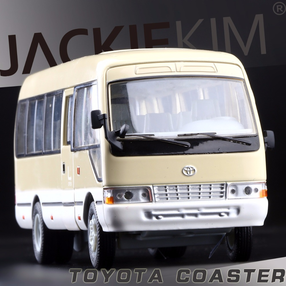 High Simulation Model Toys Classic Beige Bus Models Toyota Coaster Alloy Bus Model Excellent Christmas Gifts(China (Mainland))