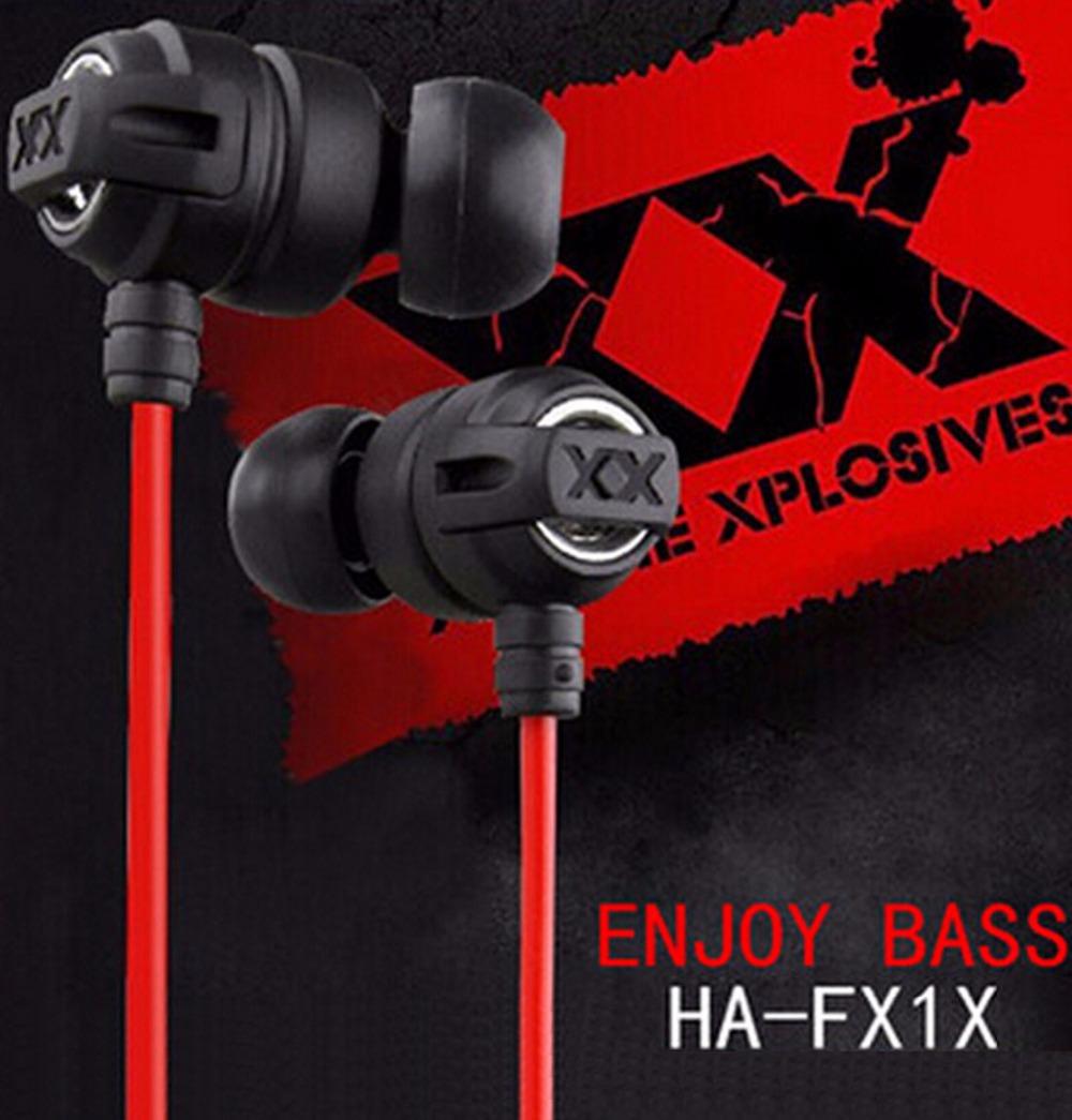 Top Sale HA-FX1X 3.5mm Stereo Bass earphones Headphone Headset for mobile Phone iphone Desktop Laptop MP3 MP4 iPod(China (Mainland))