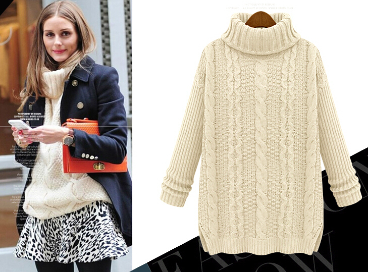 Womens White Cable Knit Sweater