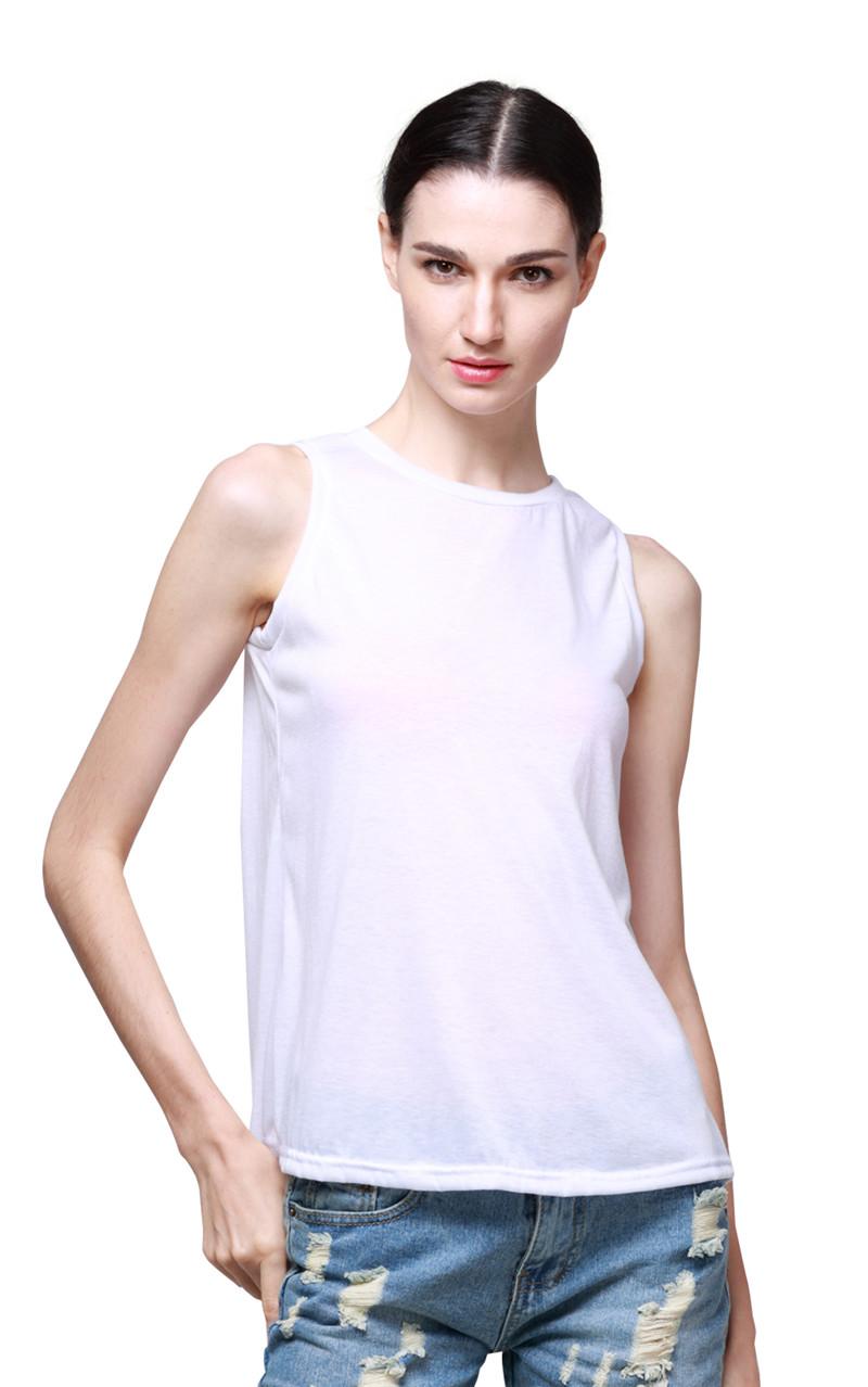 Women basic tank blouse shirt casual o neck back open for Basic shirts for women