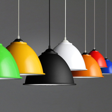 Pendant lamp Aluminium Lampshade simple pendent light single head decorative lights industry style(China (Mainland))