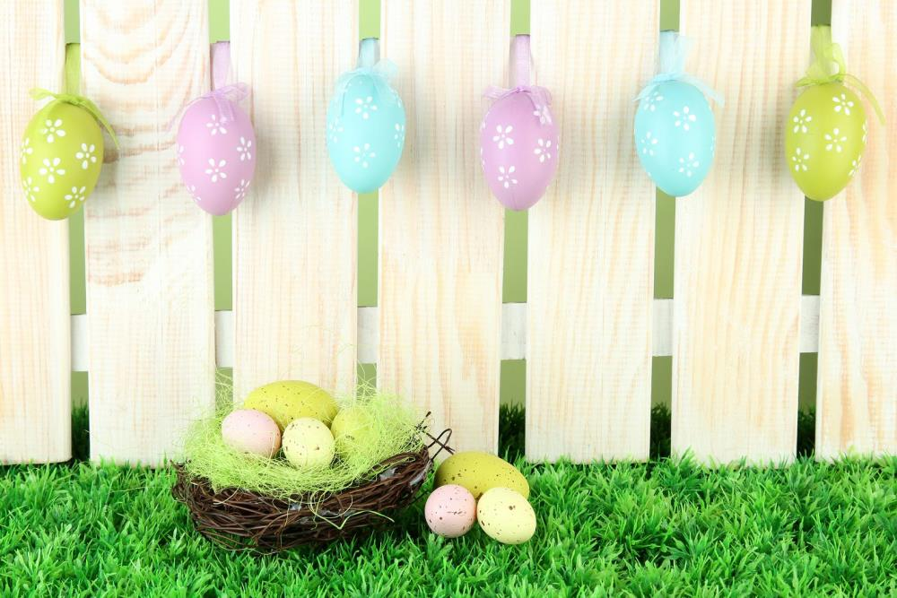 300cm*200cm Easter Day Wooden nest egg backdrop easter photography backdrops ZJ
