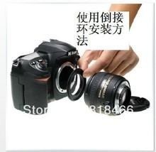 tracking number free shipping 52mm Macro Reverse lens Adapter Ring for NIKON Mount for D3100 D7100 D7000 D90