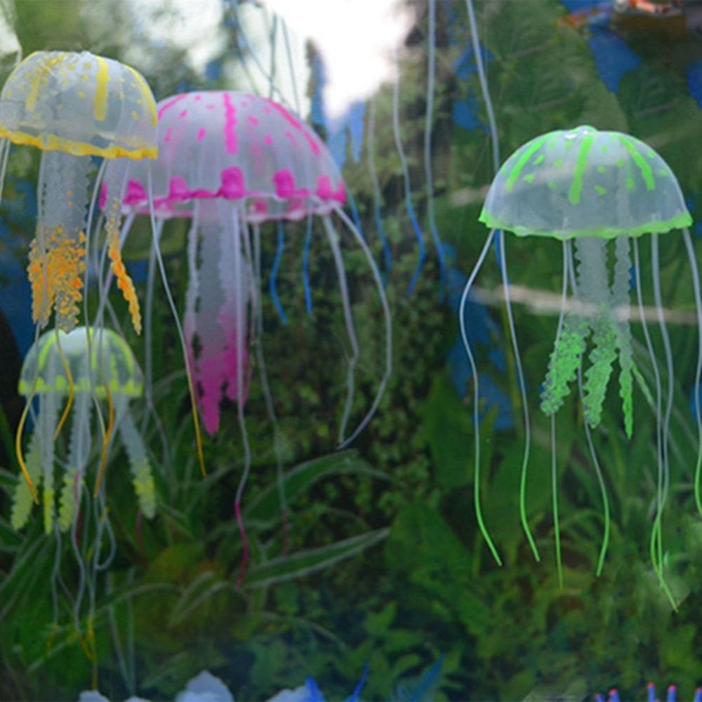 Aquarium fish tank china - New Glowing Effect Jellyfish For Aquarium Fish Jar Tank Ornament Swim Decoration China Mainland