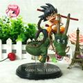 14cm 1pcs Dragon Ball Z Super Saiyan Goku with Dragon Riding PVC Action Figures Collection Model