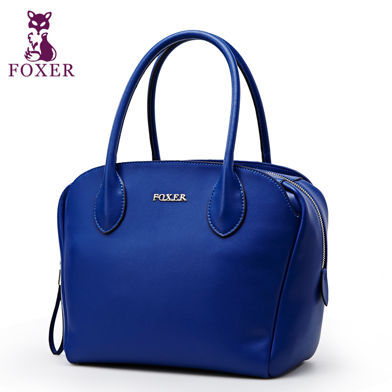 FOXER women handbag genuine leather bag women famous brands new 2014 tote evening bags designer handbags high quality wristlets<br><br>Aliexpress