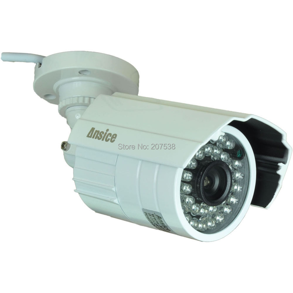 --long angle 12mm lens CCTV camera outdoor 700TVL 1/3 inchSONY EFFIO-E CCD infrared 24LED Night Vision waterproof - ansice-cctv store