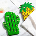 New Cute 3D Cartoon Fruit Summer Pineapple Green Cactus Soft Silicone Phone Cases Cover For iPhone