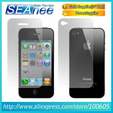 Full Body Screen Protector Fornt Screen Protector and Back Battery Cover Protector For iPhone 4  #SP05
