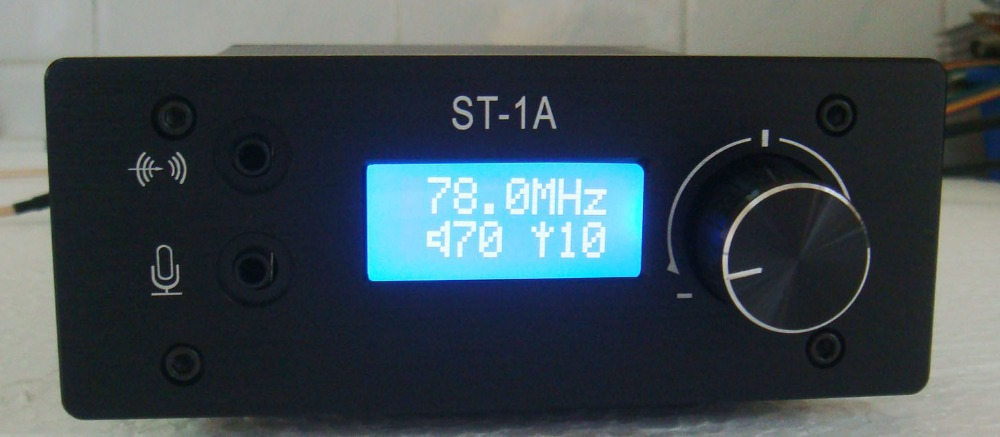 free shipping 0-1.5W adjusted LCD Digital PLL stereo FM transmitter 78--108MHZ+small antenna(China (Mainland))