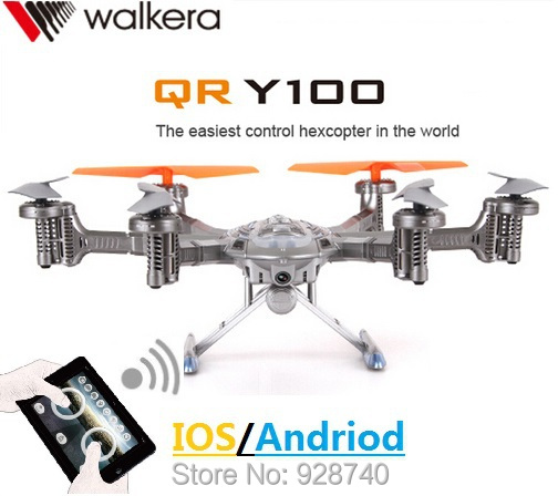 Здесь можно купить  Walkera QR Y100 4CH 5.8Ghz RC Quadcopter Hlicopter WiFi Smart Phone Control FPV Drone With Camera Real-Time Video Transmit  Игрушки и Хобби