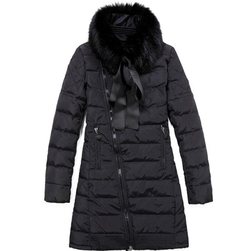 2015 Winter plus size Long Thick Duck Down Winter Jacket women black Parkas Hooded Coat Outdoor Down Jacket  BL722