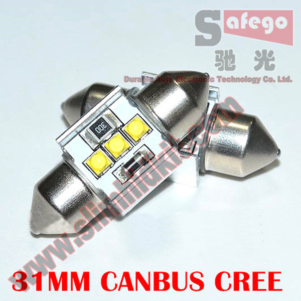 2 pcs Hot selling No Error CREE XBD 9W CANBUS 31mm C5W Fes